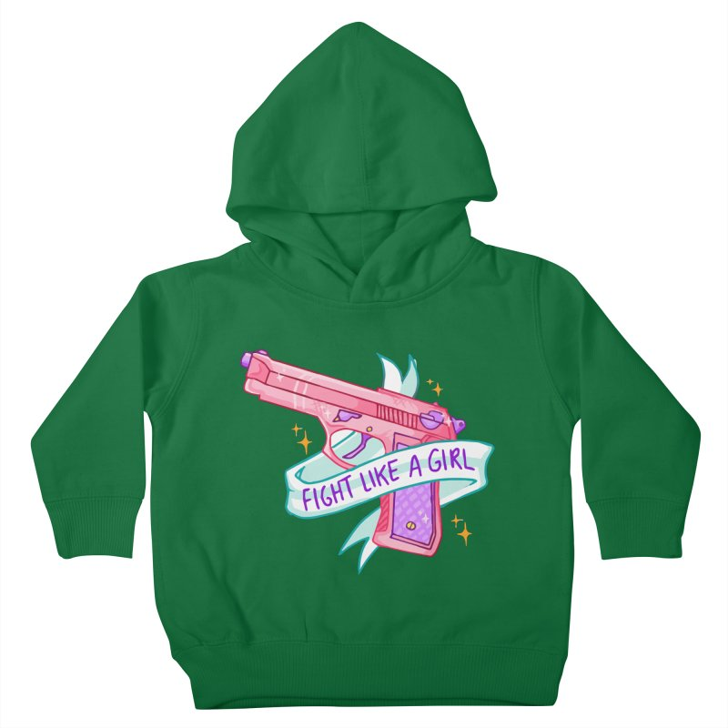 Fight Like a Girl Kids Toddler Pullover Hoody by Cesar Peralta