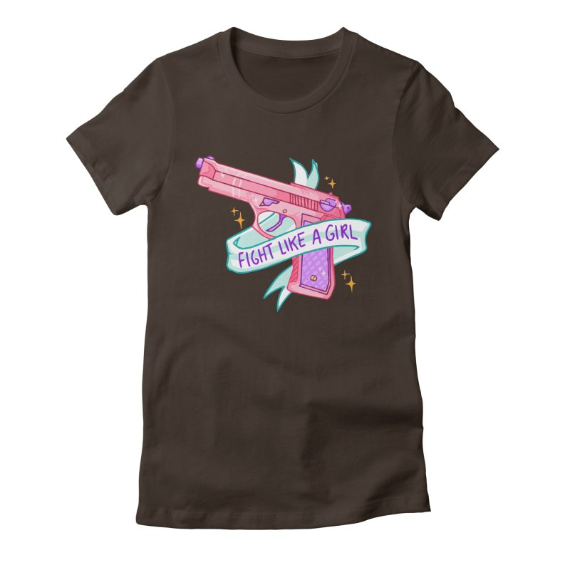 Fight Like a Girl Women's Fitted T-Shirt by Cesar Peralta