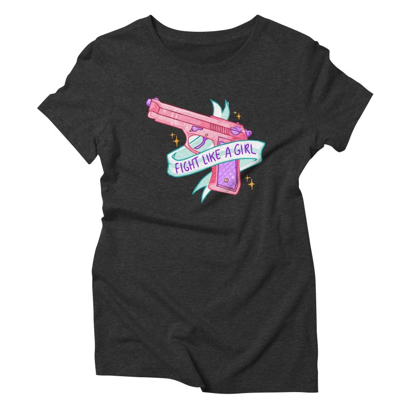 Fight Like a Girl Women's Triblend T-shirt by Cesar Peralta