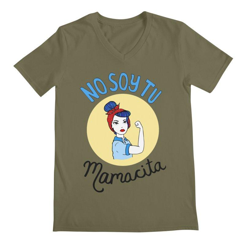 No soy tu Mamacita Men's V-Neck by Cesar Peralta