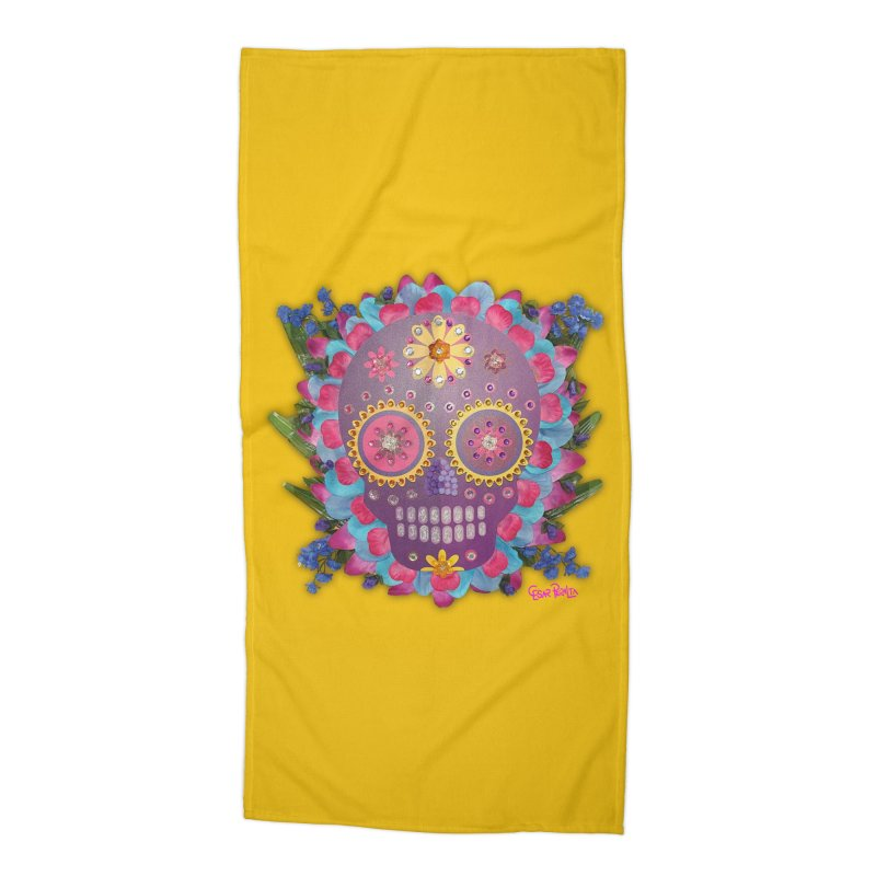 Rodeada de Flores Organicas Accessories Beach Towel by Cesar Peralta
