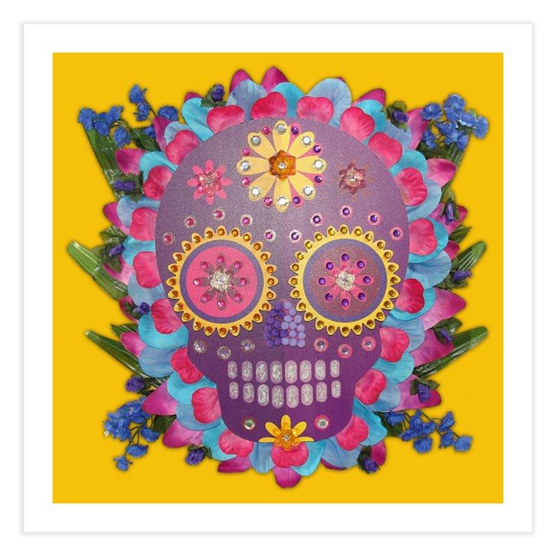 Rodeada de Flores Organicas Home Fine Art Print by Cesar Peralta