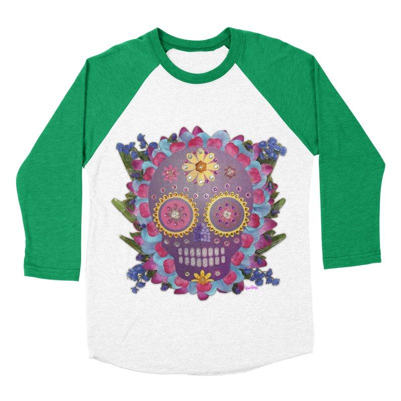Rodeada de Flores Organicas Men's Baseball Triblend T-Shirt by Cesar Peralta