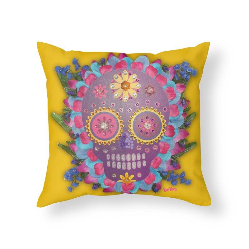 Rodeada de Flores Organicas Home Throw Pillow by Cesar Peralta
