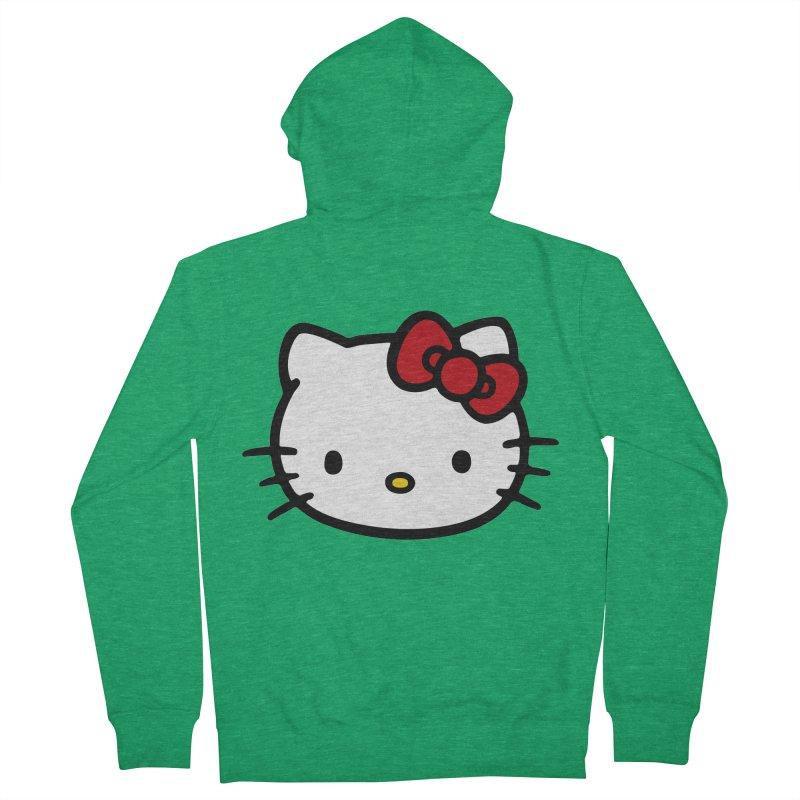 Hello Kitty Men's Zip-Up Hoody by Cesar Peralta