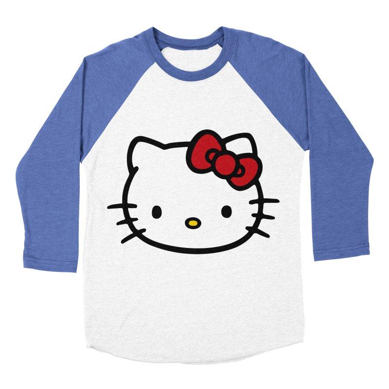 Hello Kitty Women's Baseball Triblend T-Shirt by Cesar Peralta