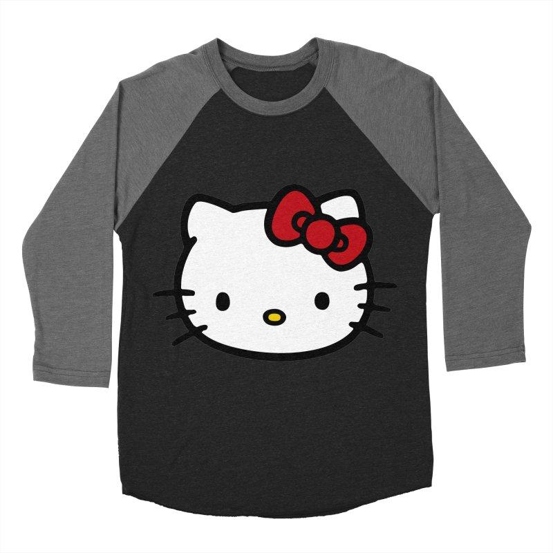 Hello Kitty Men's Baseball Triblend T-Shirt by Cesar Peralta