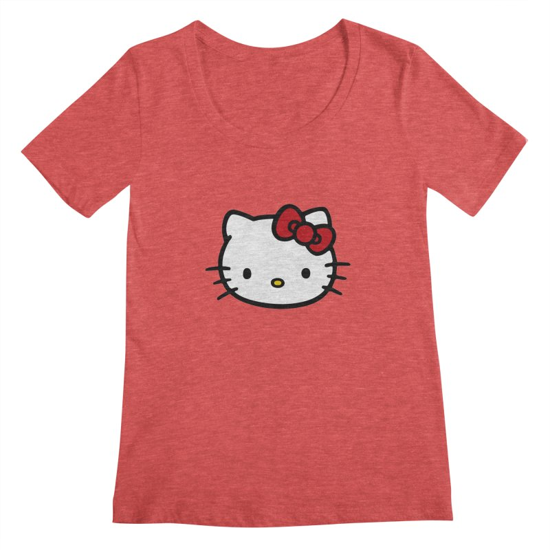 Hello Kitty Women's Scoopneck by Cesar Peralta
