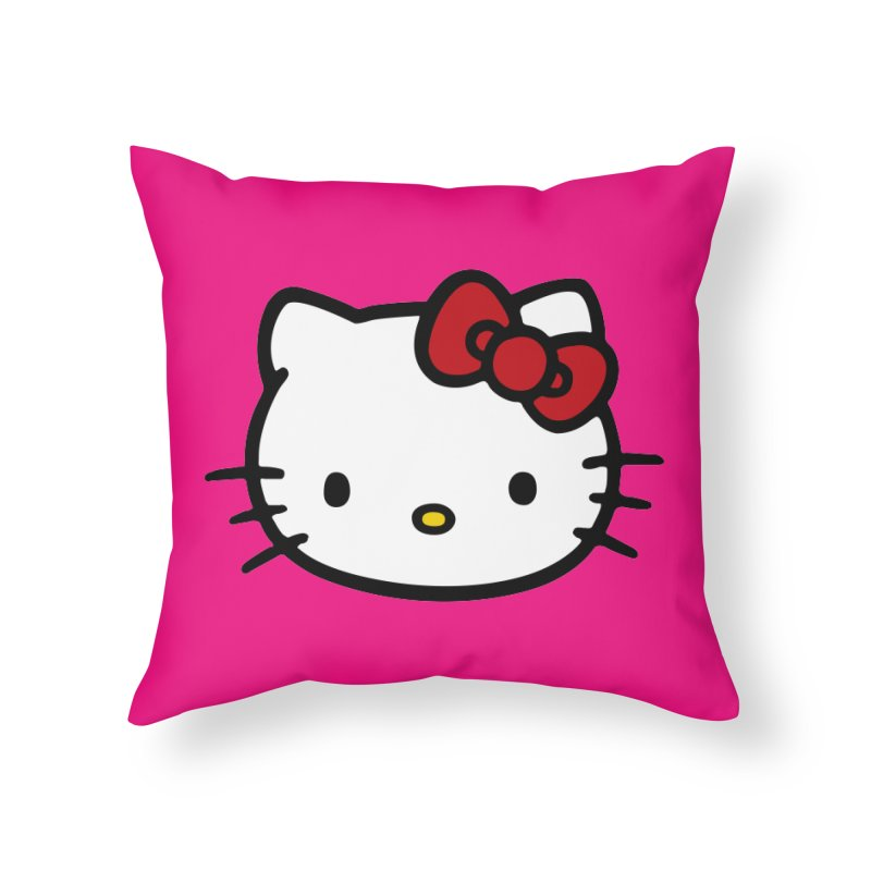 Hello Kitty Home Throw Pillow by Cesar Peralta
