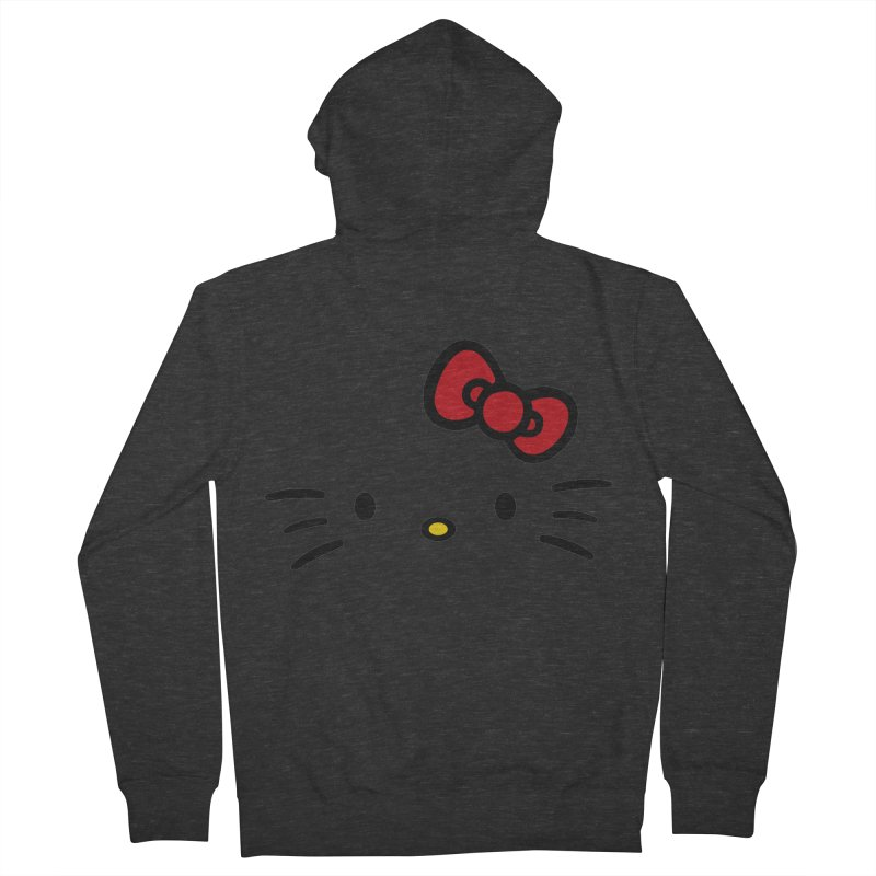 Invisible kitty Women's Zip-Up Hoody by Cesar Peralta