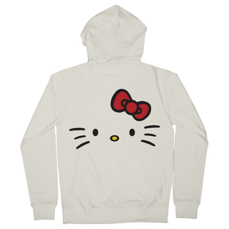 Invisible kitty Men's Zip-Up Hoody by Cesar Peralta