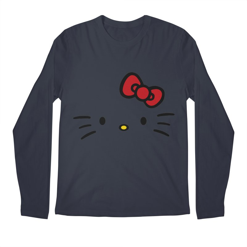Invisible kitty Men's Longsleeve T-Shirt by Cesar Peralta