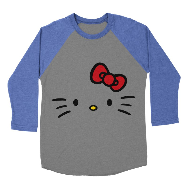 Invisible kitty Women's Baseball Triblend T-Shirt by Cesar Peralta