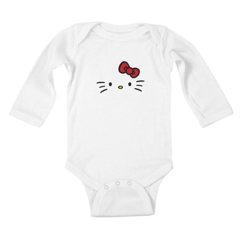 Invisible kitty Kids Baby Longsleeve Bodysuit by Cesar Peralta