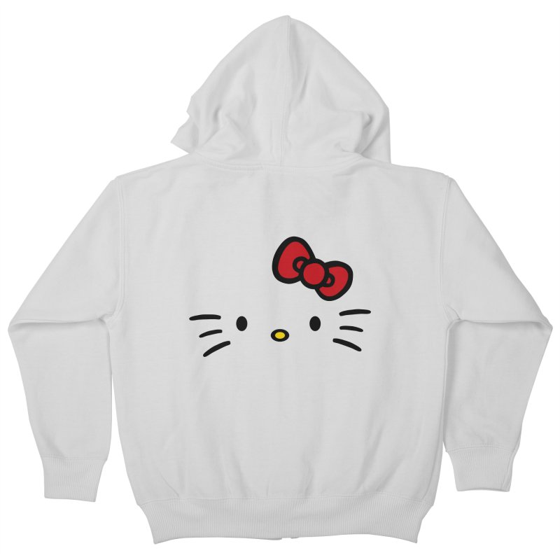 Invisible kitty Kids Zip-Up Hoody by Cesar Peralta
