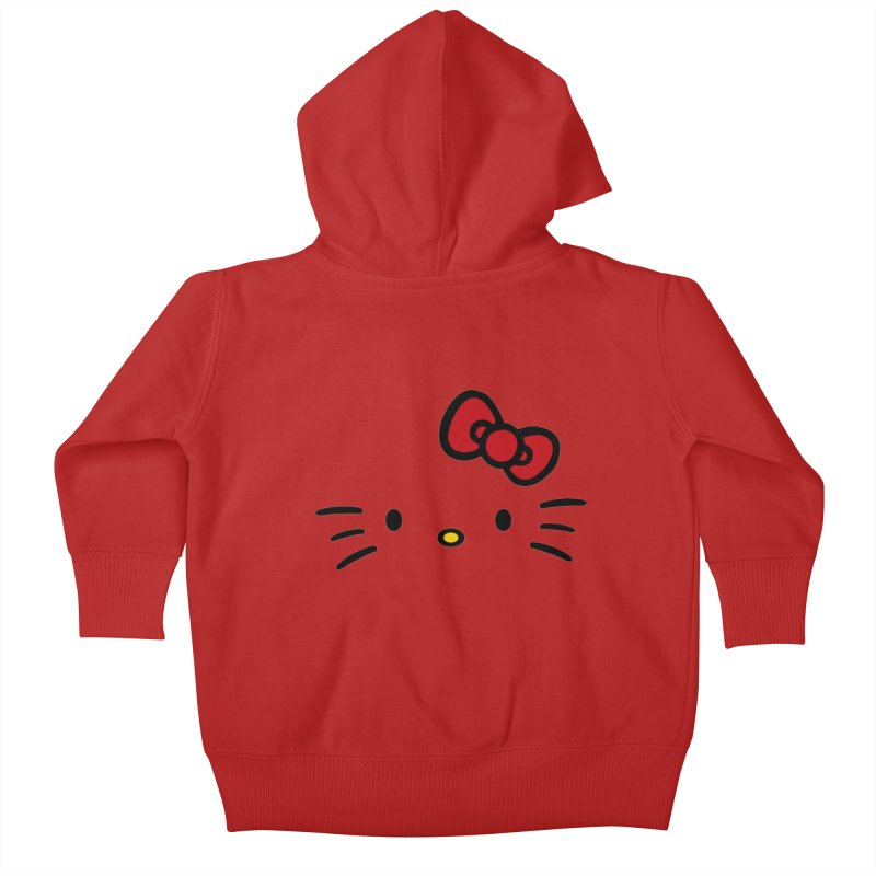 Invisible kitty Kids Baby Zip-Up Hoody by Cesar Peralta