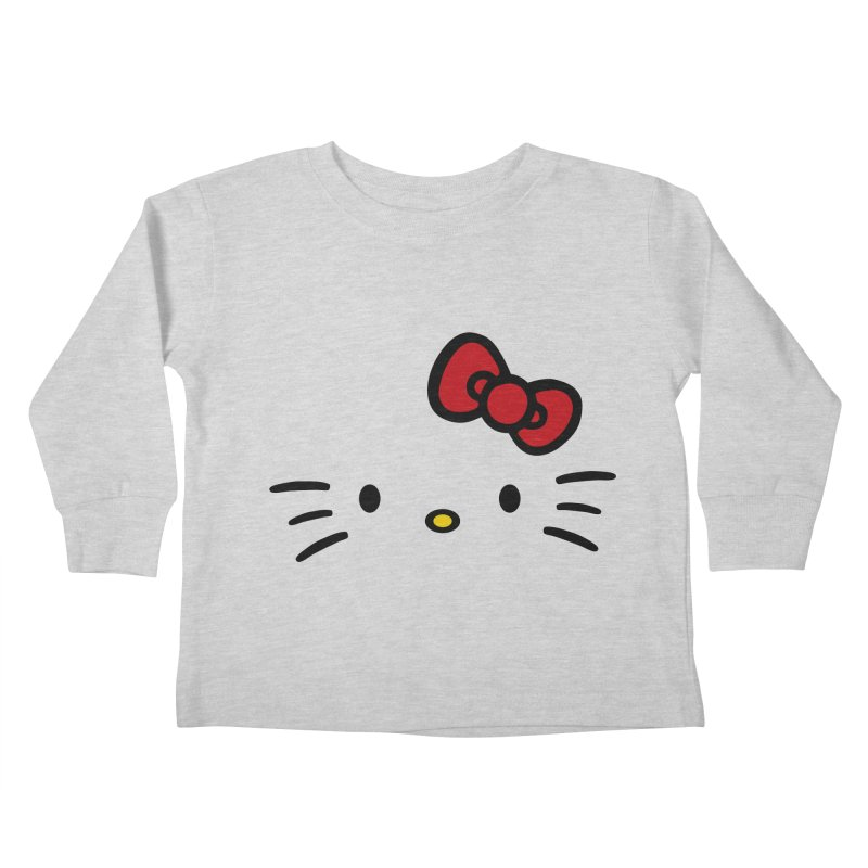 Invisible kitty Kids Toddler Longsleeve T-Shirt by Cesar Peralta