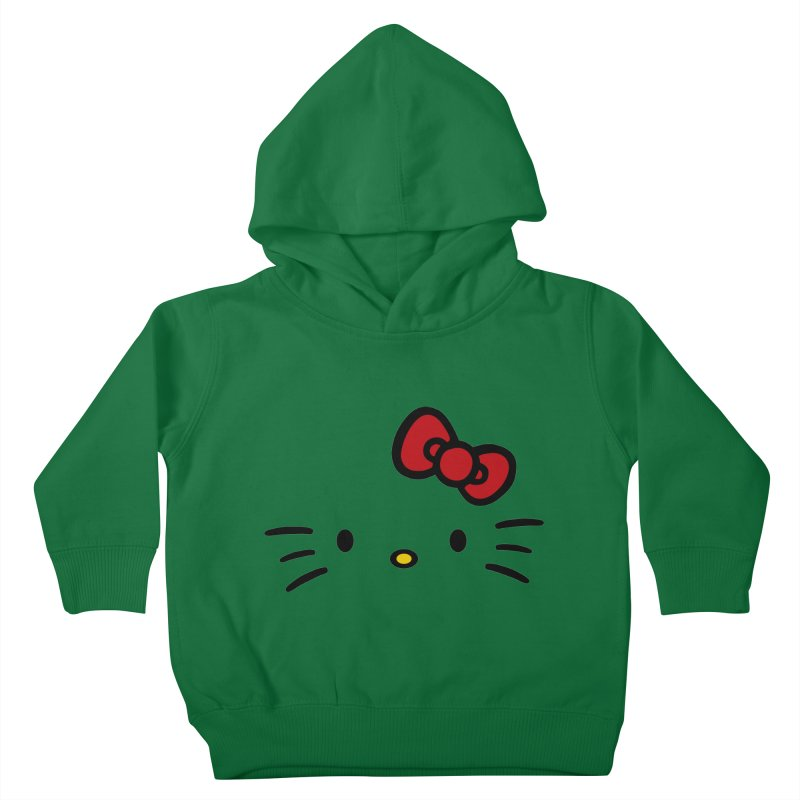 Invisible kitty Kids Toddler Pullover Hoody by Cesar Peralta