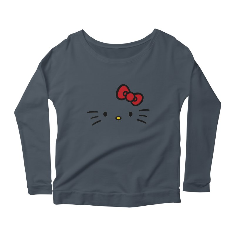 Invisible kitty Women's Longsleeve Scoopneck  by Cesar Peralta