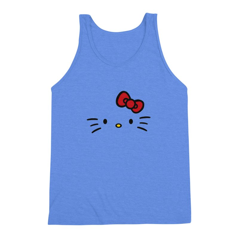 Invisible kitty Men's Triblend Tank by Cesar Peralta