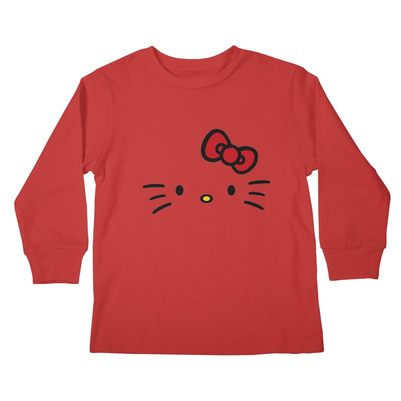 Invisible kitty Kids Longsleeve T-Shirt by Cesar Peralta