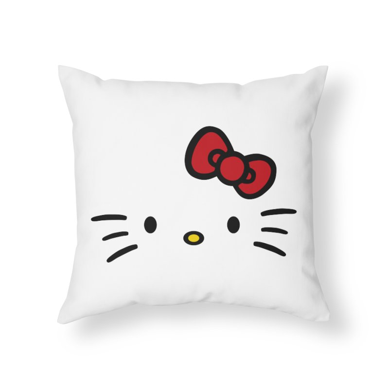Invisible kitty Home Throw Pillow by Cesar Peralta