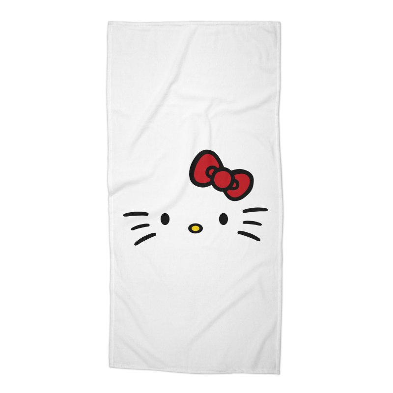 Invisible kitty Accessories Beach Towel by Cesar Peralta