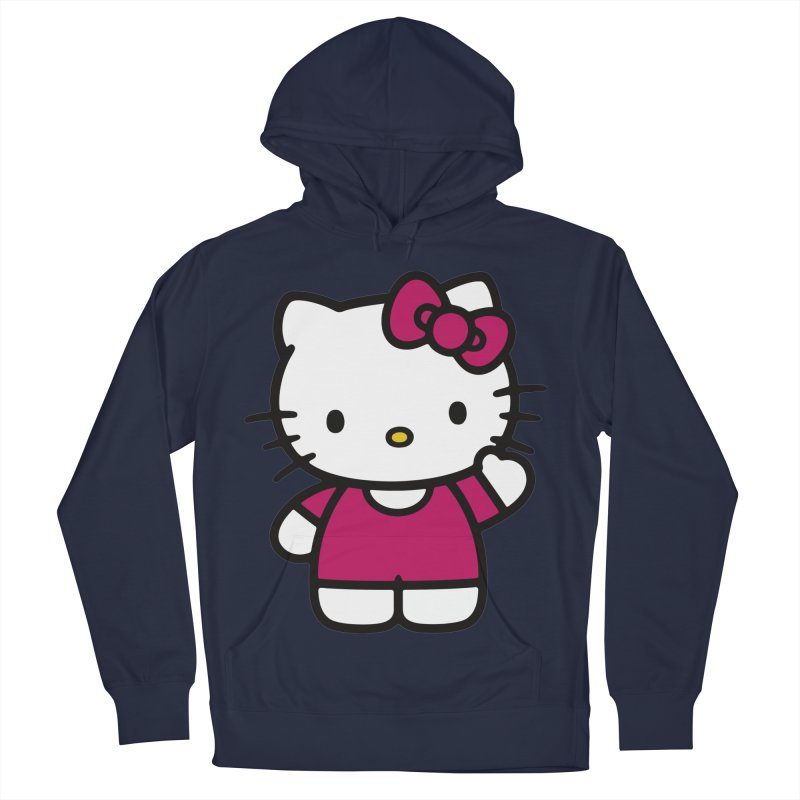 Kitty saying hello Women's Pullover Hoody by Cesar Peralta