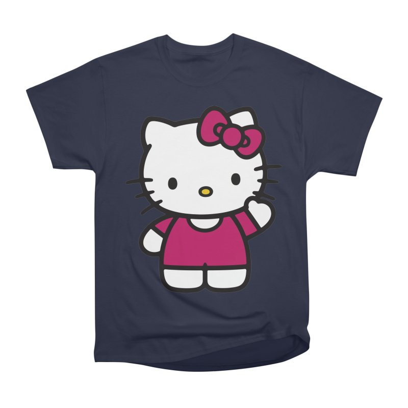 Kitty saying hello Women's Classic Unisex T-Shirt by Cesar Peralta