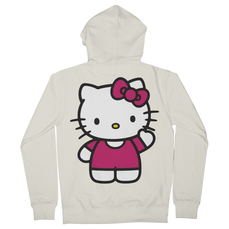 Kitty saying hello Women's Zip-Up Hoody by Cesar Peralta
