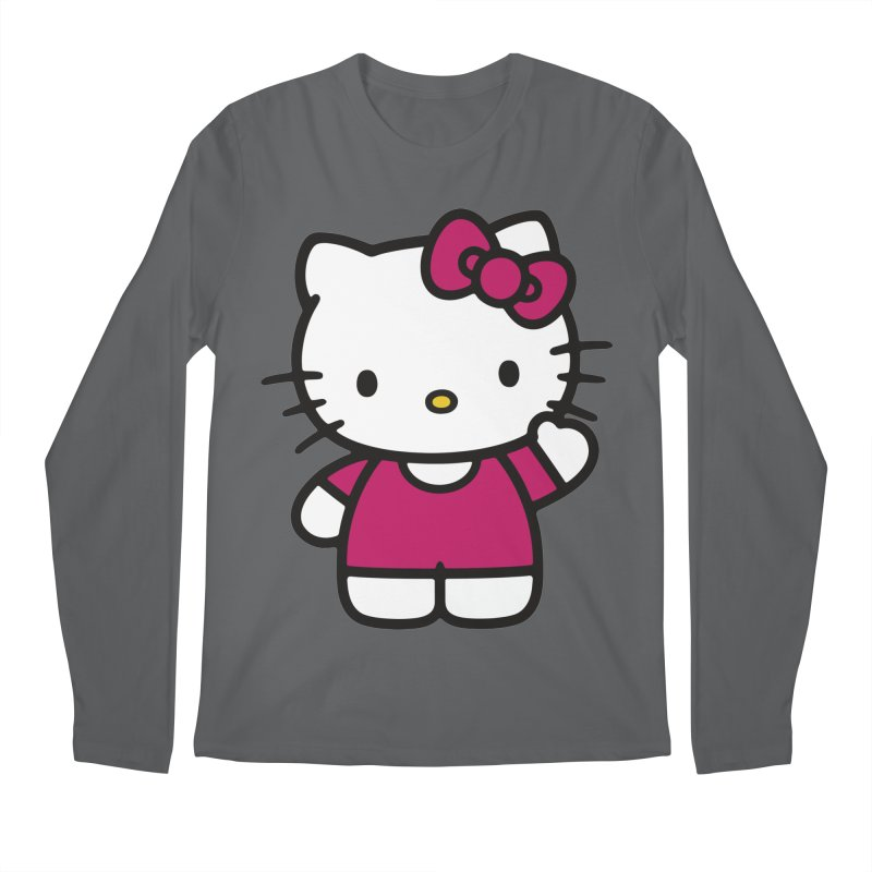 Kitty saying hello Men's Longsleeve T-Shirt by Cesar Peralta