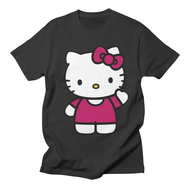 Kitty saying hello Men's T-shirt by Cesar Peralta