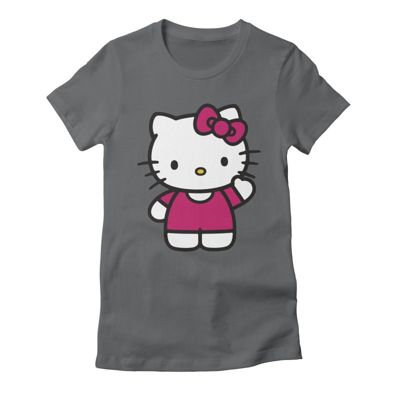 Kitty saying hello Women's Fitted T-Shirt by Cesar Peralta