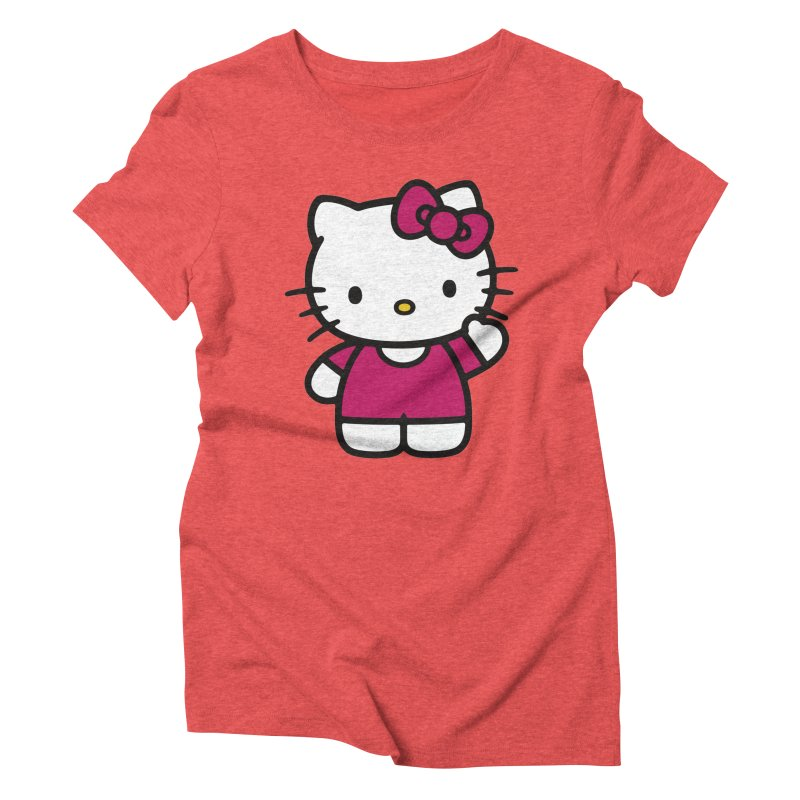 Kitty saying hello Women's Triblend T-shirt by Cesar Peralta