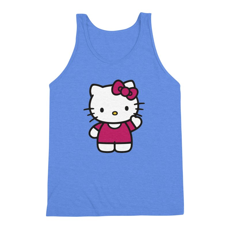 Kitty saying hello Men's Triblend Tank by Cesar Peralta