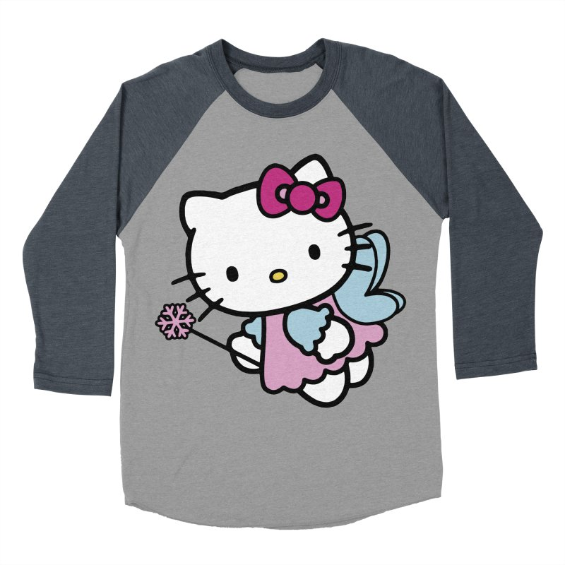 Hello Kitty Angel Men's Baseball Triblend T-Shirt by Cesar Peralta