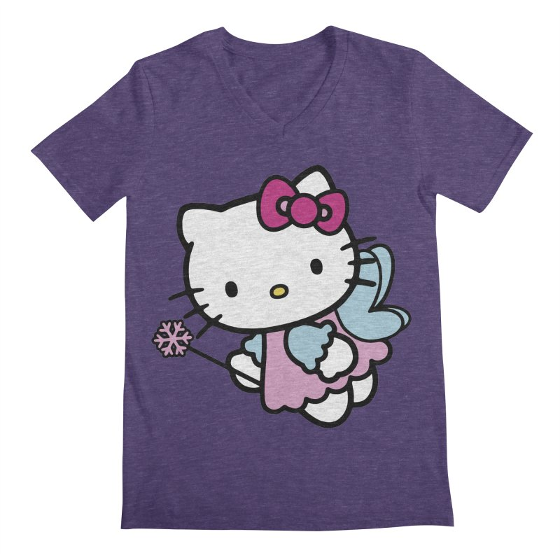 Hello Kitty Angel Men's V-Neck by Cesar Peralta