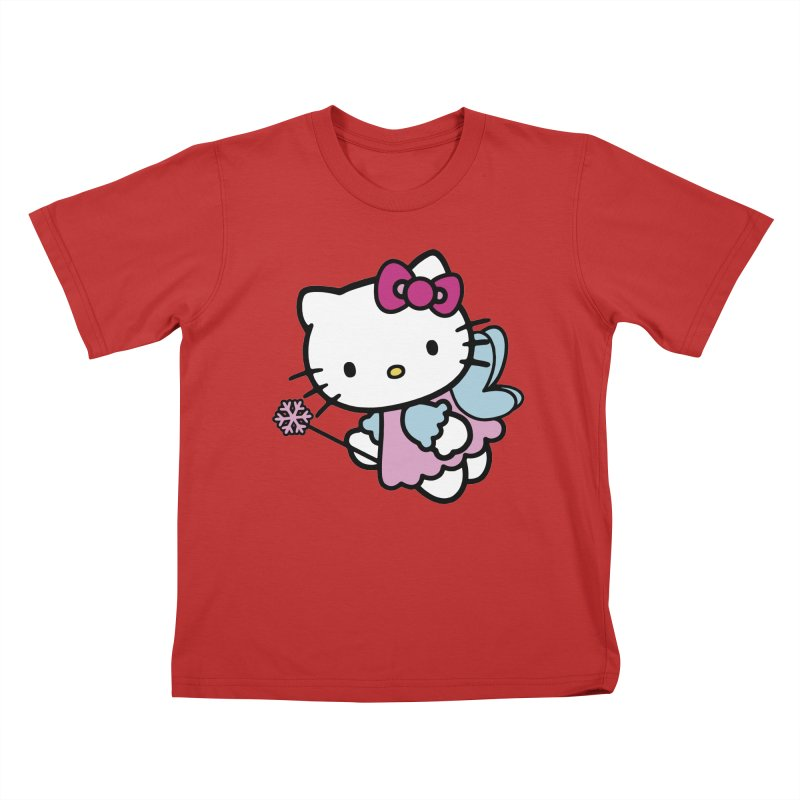 Hello Kitty Angel Kids T-shirt by Cesar Peralta