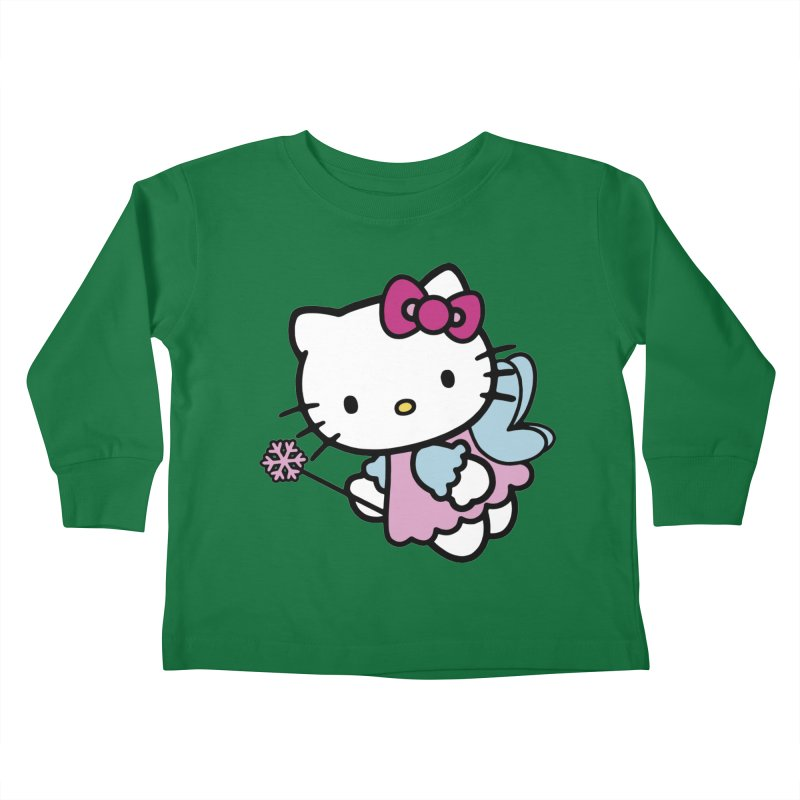 Hello Kitty Angel Kids Toddler Longsleeve T-Shirt by Cesar Peralta
