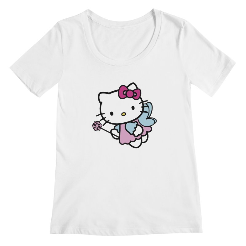 Hello Kitty Angel Women's Scoopneck by Cesar Peralta