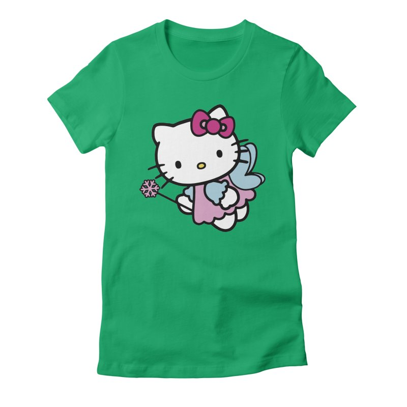 Hello Kitty Angel Women's Fitted T-Shirt by Cesar Peralta