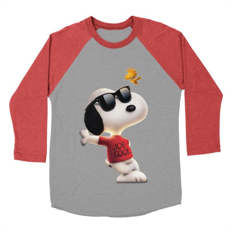 Joe Cool Men's Baseball Triblend T-Shirt by Cesar Peralta