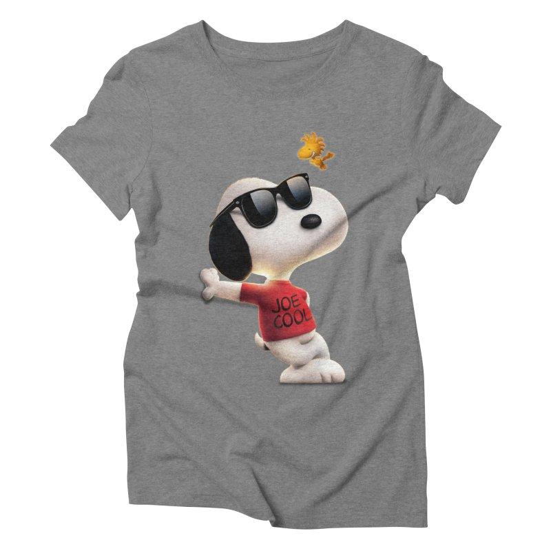 Joe Cool Women's Triblend T-shirt by Cesar Peralta