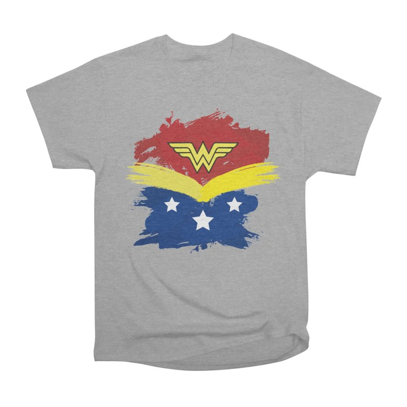 Wonder woman painting Men's Classic T-Shirt by Cesar Peralta