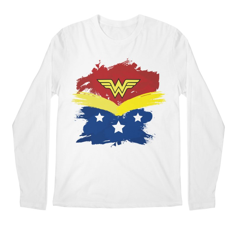Wonder woman painting Men's Longsleeve T-Shirt by Cesar Peralta