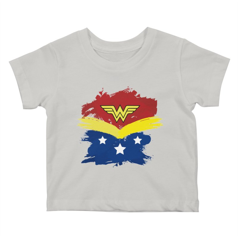 Wonder woman painting Kids Baby T-Shirt by Cesar Peralta