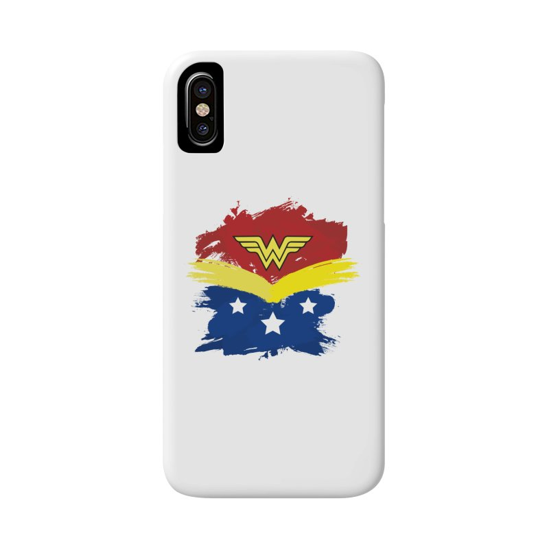 Wonder woman painting Accessories Phone Case by Cesar Peralta