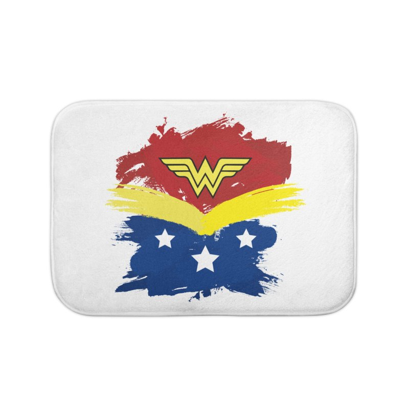 Wonder woman painting Home Bath Mat by Cesar Peralta