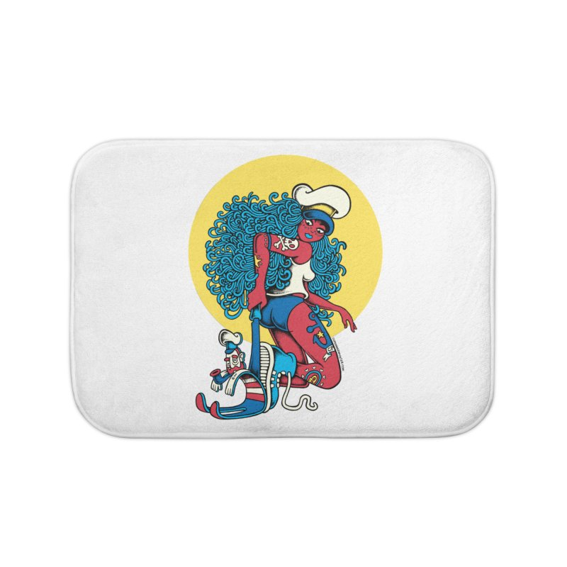 Maneater Home Bath Mat by cphposter's Artist Shop