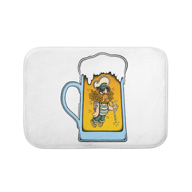 Beer Time Home Bath Mat by cphposter's Artist Shop